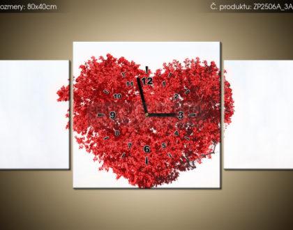 Tištěný obraz s hodinami