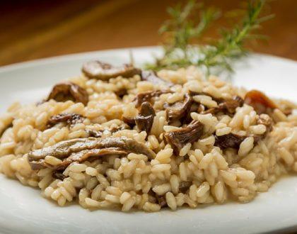 Recept na skvělé houbové italské rizoto