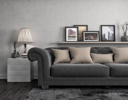Obývací pokoj vduchu minimalismu: Nic složitého