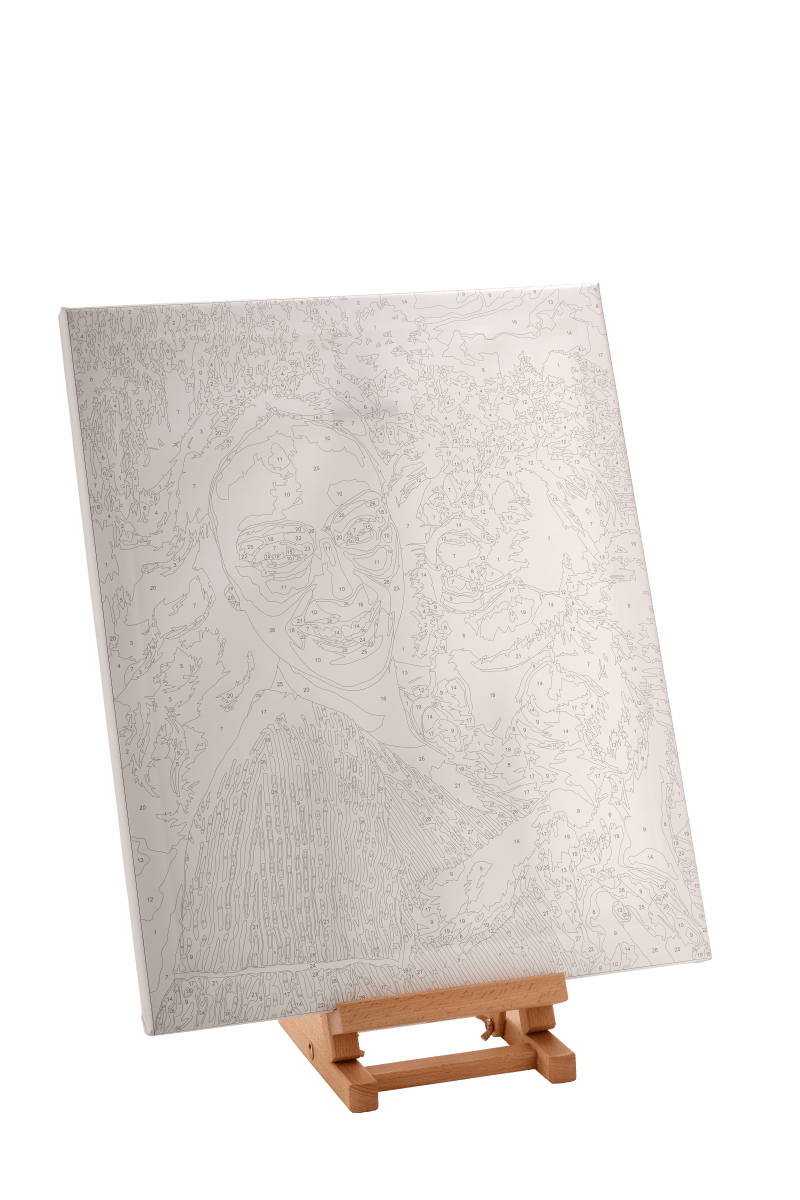 Obraz na stojaně - Malování podle čísel